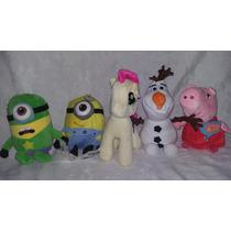 Peluches 20cm Minion Musical, Peppa, My Little Pony, Olaf