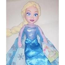 Muñeca Peluche Elsa De Frozen Disney (37 Cm!!!!)