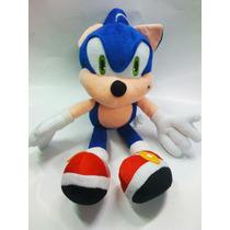 Sonic Peluche Retro Sega Gran Tamaño 42 Cm.