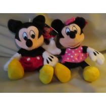 Peluche Mickey Mouse - Minnie Tira Besos Y Dice Te Amo