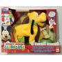 Disney Peluche Pluto Camina Con Correa A Control ! Original