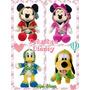 Mickey Minnie Pluto Donald Peluche 25cm Disney Original Sipi