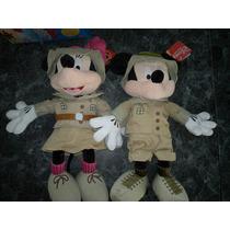 Disney Peluche Mickey O Minnie Mouse Exploradores (45 Cm!!!)