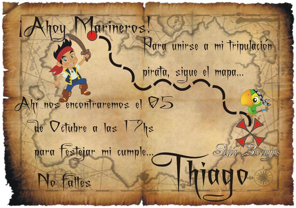 Invitación De Cumpleaños Jake Y Los Piratas Imagui