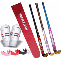 Kit Hockey Palo + Funda + Canilleras +bucal 30 A 37 Pulgadas