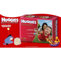 Pañales Huggies Natural Care Hiperpack Mx72 Varios Talles