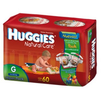 Pañales Huggies Natural Care Grande X60 Unidades
