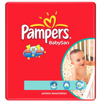 Pañales Pampers Babysan Hiperpack (xg,xxg)