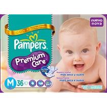 Pañales Pampers Premium Care M X 36 El Mas Barato Por Pañal