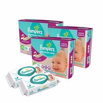 3 Hiperpack Pampers Premium Care Xg + 2 Toallitas Sensitive