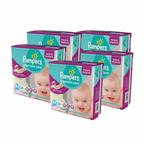 5 Superpack Pañales Pampers Premium Care Mediano