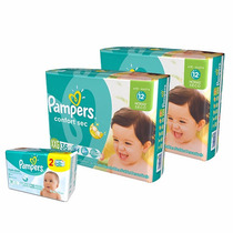 2 Hiperpack Pampers Confort Sec Xxg + Toallitas Fresh Clean