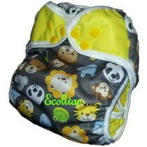 Pañal De Tela Pul Cobertor Doble Barrera Kit Ecolitas