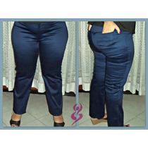 Pantalón Elastizado De Gabardina Rasada Talle Xl