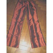 Pantalon Taftan Tornasolado Cobre , Talle 28/38 Fiestas