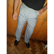 Pantalon De Vestir Via Italiani T/48 Tela Tropical...