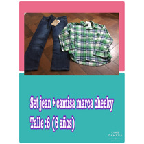 Set Jean + Camisa Marca Cheeky Talle 6 Nuevo Varon