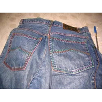 Pantalon Jean Dama B&m Talle 2 Pespuntes Cintura Alta Buggy