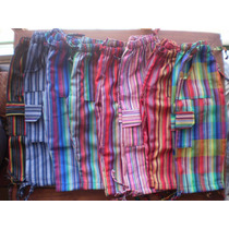 Pantalones Bali A Rayas Coloridos Unisex - Niños Y Adultos