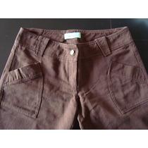 Pantalón Gabardina Sans Doute - Color Marrón - Talle Xl