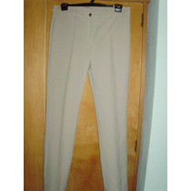 Pantalon De Vestir Color Beige