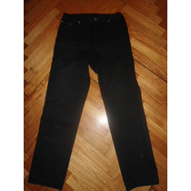 Pantalon De Jeans Negro Bachino, Como Nuevo!
