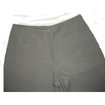 Pantalon De Vestir De Dama Color Gris Sin Cintura Talle 40 M