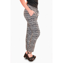 Babucha Pantalon Estampada De Seda Fria, Brishka, T018