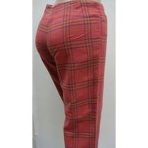 Ef Pantalon Capri Ts Lana Elast. Escoses Coral Cintura 72cm