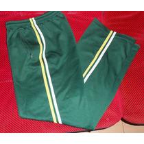 Pantalon Deportivo, Poliester T.16, Verde Con Rayas, Niño/ A