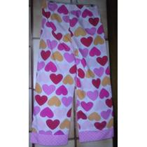 Pantalon Blanco Corazones Rojo Naranja Rosa. Talle 6