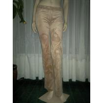Exclusivo Pantalón Mab T.3 (26) Corte Jean De Tela Gamuzada