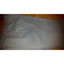 Pantalon De Vestir Color Gris Arena Para Hombre.