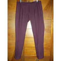 Pantalon De Lanilla Color Uva Talle Grande Nuevo M Pago