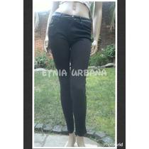 Pantalon Chupin Elastizado Corte Jean Y Apliques Engomados