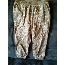 Pantalon Nena Verde Con Libelulas Y Corazones Dorados