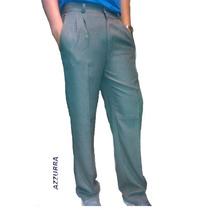 Pantalon De Vestir De Sarga Azzurra - Talles De Niño