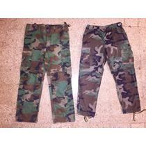 Pantalones Camuflados Talle 46 Y 40 Originales Del Ejercito