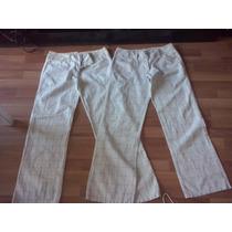 Pantalones De Lienzo De Dama Rayados