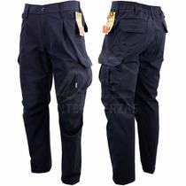 Pantalon Cargo Rip Stop Azul Antidesgarro