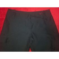 Pantalón Negro Con Botamanga Para Fruncir