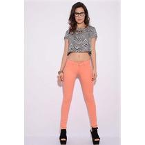 Pantalones De Colores Elastizados Talles 38 Al 44 $ 390