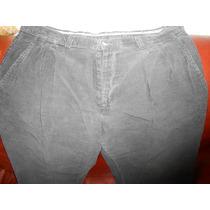 Pantalon Hombre Casuales De Vestir A Rayitas Gris Noche