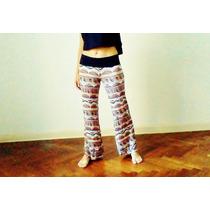 Pantalones Palazzo Modal Estampados Cómodos Varios Colores