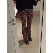 Pantalon Palazzo Leopardo Mujer