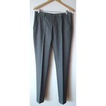 Pantalón De Vestir Color Gris Claro Zara Man Talle S