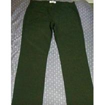 Pantalón De Vestir Tela Tropical Verde. Nuevo...!!!