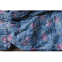Pantalon Flores Estampado Talle 10 Corderoy