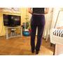 Pantalon Pana Color Uva Impecable Talle M