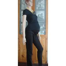 Pantalón Embarazadas Gabardina Elastizada Local A La Calle